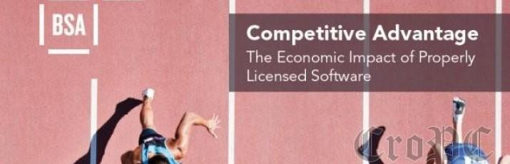 Nova studija udruženja BSA-The Software Alliance i jedne od vodećih svjetskih poslovnih škola INSEAD, zaključuje kako bi porast uporabe ispravno licenciranog softvera imalo jači učinak na hrvatsko gospodarstvo od sličnog porasta uporabe nelicenciranog softvera