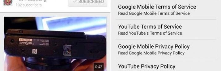 Nakon nekoliko neznatnih promjena, Google je redizajnirao Android aplikaciju za YouTube