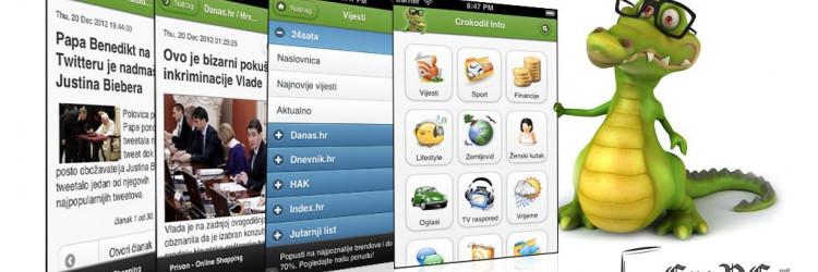 Nekad znana pod imenom Horvat Andro, aplikacija je tijekom svog razvoja promijenila ime u Crokodil Info, no i dalje je riječ o aplikaciji koja na jednom mjestu okuplja veliku količinu korisnih podataka i vijesti