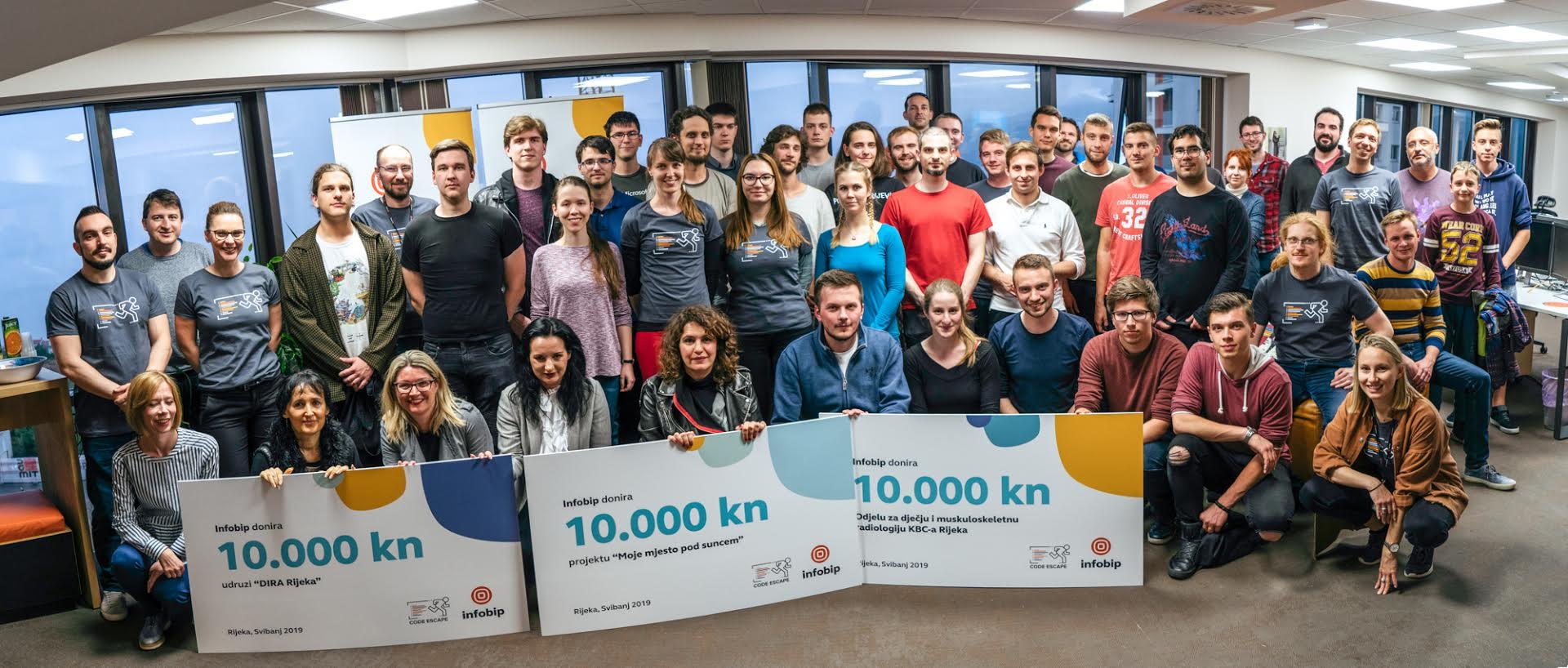 Infobip okupio u Rijeci preko 50 developera i donirao 30.000kn zajednici