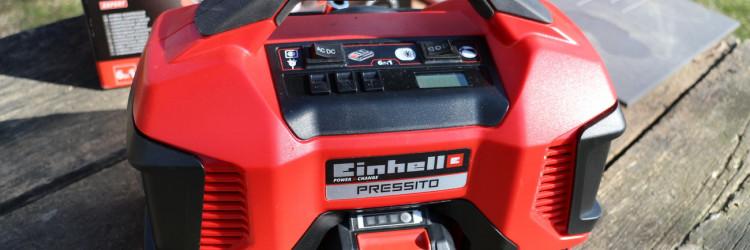 Kao jedan od mnogobrojnih uređaja Einhell Power X-Change obitelji, na test nam je stigao PRESSITO - malen i svestran zračni kompresor