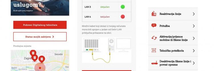 Uz funkcionalnost Status mojih zahtjeva korisniku je omogućen pregled svih postavljenih zahtjeva prema A1 Hrvatska te informacija u kojem su statusu i kada će biti riješeni