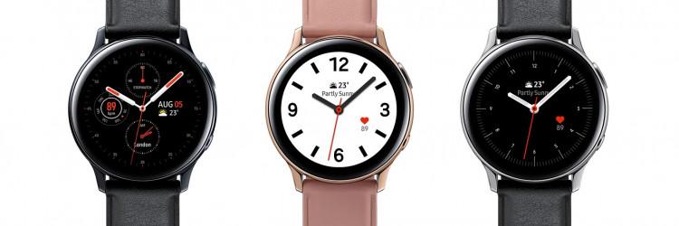 Korisnici Galaxy Watch Active2 uređaja mogu odabrati veličinu kućišta od 44 mm ili od 40 mm, kao i model izrađen od laganog aluminija s ležernom fluoroelastomer trakom (FKM) ili vrhunski čvrstog, nehrđajućeg čelika s kožnim remenom