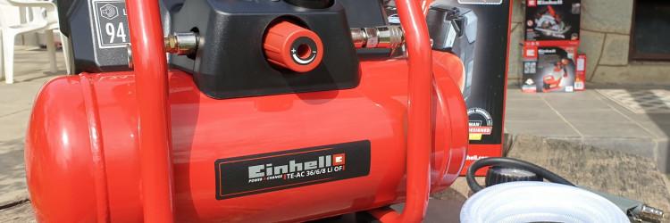 Među brojnim alatima tako se nalazi i Einhell TE-AC 36/6/8 Li OF Set