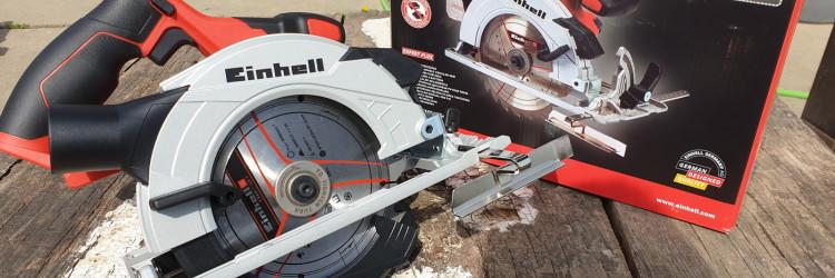 Einhell TE-CS 18/165 Li-Solo stiže u pakiranju s kojeg odmah iščitavamo mogućnosti ovog ručnog cirkulara