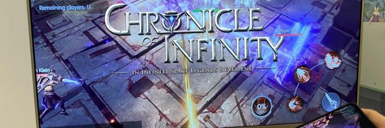 Chronicle of Infinity je avanturistička igra koja integrira Huawei Cast + Kit mogućnosti kako bi fragmentirala scene u igri i reproducirala ih na pametne telefone i TV ekrane igrača, čime se korisnicima pruža besprijekoran i neprekinut doživljaj igranja na različitim uređajima