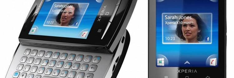 Nakon modela Xperia X10 i Vivaz, dolaze nam dvije Pro i jedna Mini inačica