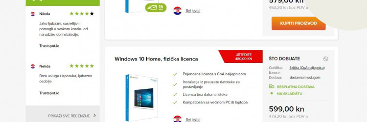 Jedan od pouzdanih trgovaca korištenim licencama je Software Deals (www.software-deals.hr)