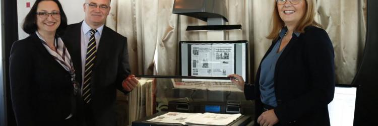 U sklopu komponente Digitalna arhiva po prvi put su skenirane zemljišne knjige te je razvijen informacijski sustav koji omogućava njihovo pretraživanje i pregledavanje