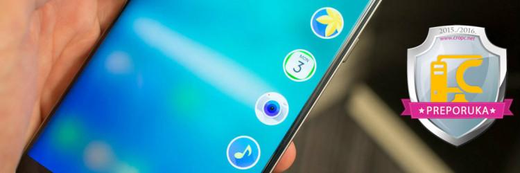 Uvećani Edge Plus je baš poput modela S6 i zakrivljenog Samsung Galaxy S6 Edge izrađen u potpunosti od stakla i aluminija