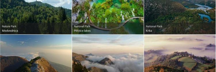 Aplikacija je zamišljena kao mobilni vodič kroz 8 nacionalnih i 11 parkova prirode koji omogućava lakše snalaženje u parkovima