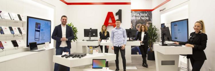 Inovativnim konceptom osigurana je dostupnost A1 poslovnica u cijeloj Hrvatskoj, virtualno uz doživljaj korisnika kao u fizičkoj poslovnici