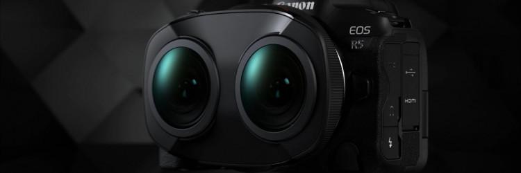 Posve novi sustav EOS VR SYSTEM koristi objektiv Canon RF 5.2mm F2.8L DUAL FISHEYE na fotoaparatu s jednim senzorom, što znači da nije potrebno podešavanje objektiva: stvara se samo jedna datoteka za lijevu i desnu sliku, koje su već savršeno sinkronizirane