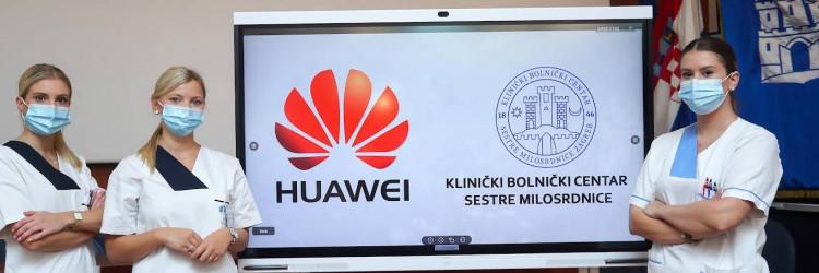 Huawei je KBC-u donirao dva moderna uređaja IdeaHub, potrebne servere i mrežnu opremu za spajanje IdeaHub-a na internetsku mrežu