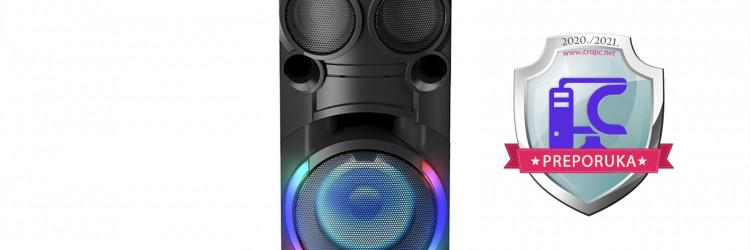 Riječ je o sve-u-jedan sustavu spremnim za bilo koju feštu, a koji donosi mogućnost slušanja glazbe iz više izvora, zatim atraktivno osvjetljenje, DJ funkcionalnosti, ali i karaoke