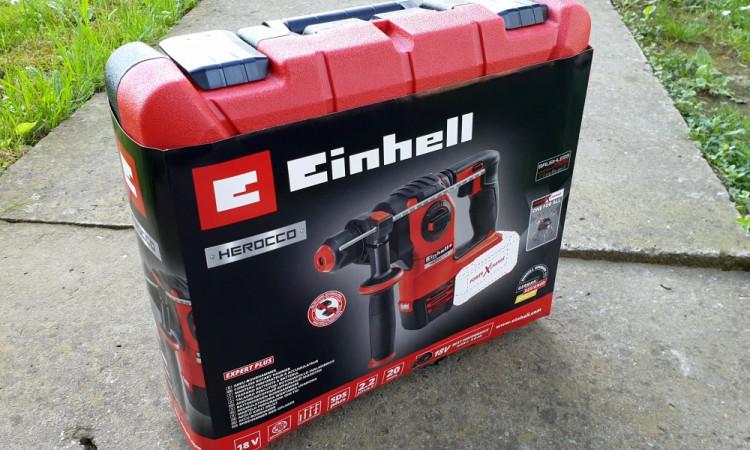 Einhell Herocco stiže u praktičnom pakiranju koje uključuje kovčeg u kojem ima mjesta i za bateriju i za punjač