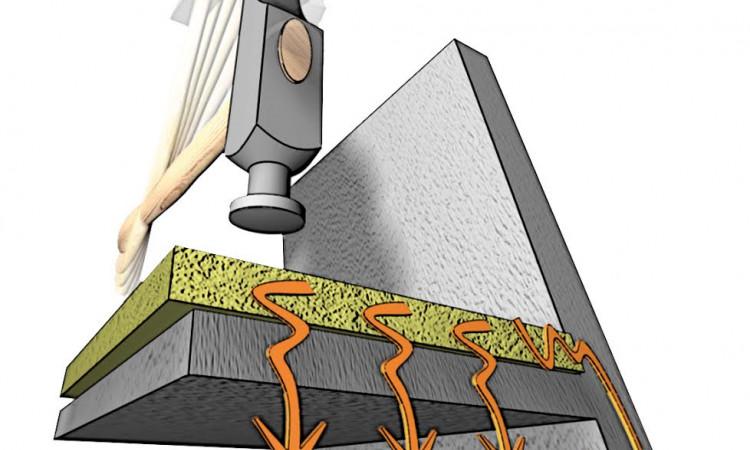 U slučaju većih dinamičkih opterećenja poda (do 10kN/m2), prostora koji se učestalo koriste, na primjer poslovnih prostora, za umanjenje udarne buke koristimo Knauf Insulation podne ploče TPT